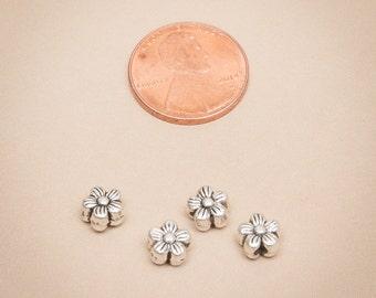 50 Pcs Antique Silver Bead Spacer Flower 7mm / Z070-50