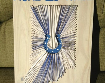 Home is where the colts are - string art - unique