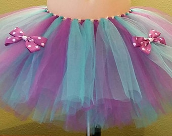 Purple & Teal Tutu with Boutique Bows