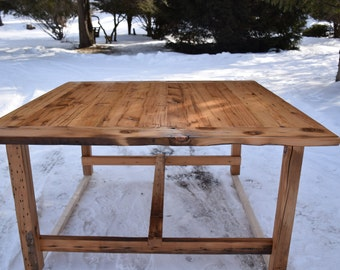 The Alice - Reclaimed Wood Dining Table, Farmhouse Table, Square Table
