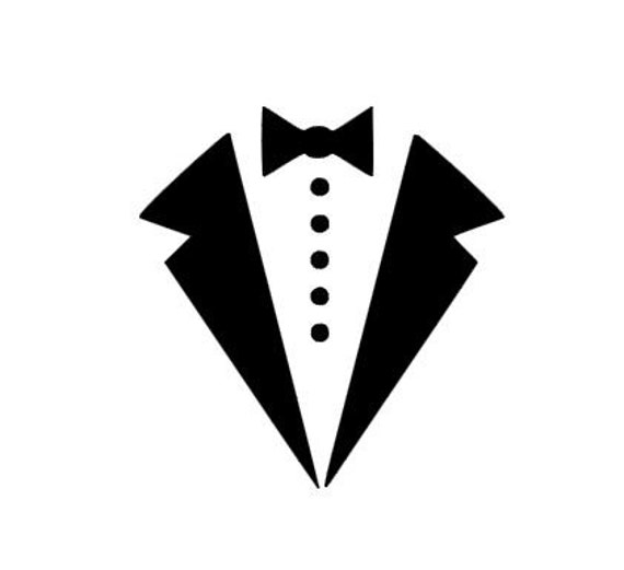 Tuxedo Bow Tie Instant Download For Cutting Machines Svg Dxf
