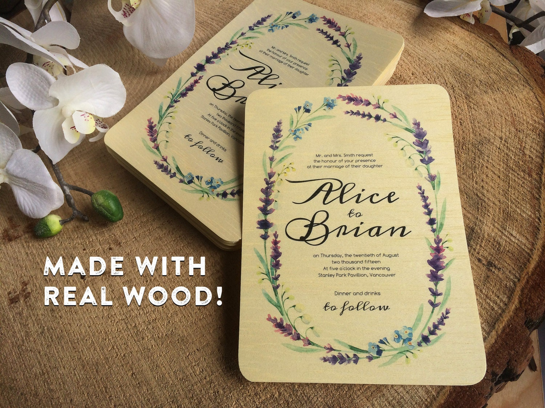Real Wood Wedding Invitations: Kitchen & Dining