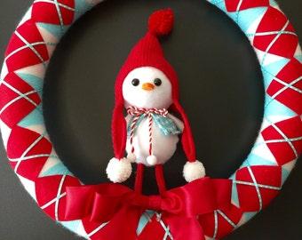 Christmas snowbird wreath
