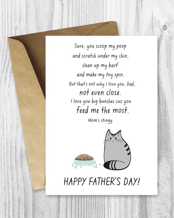 Printable Father Card Fathers Day Card Pet Dad Father S