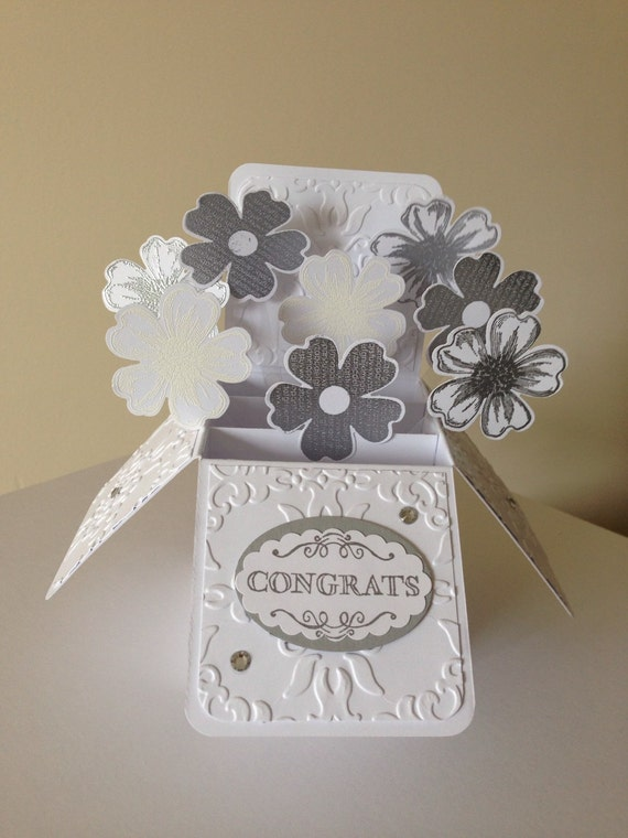 Handmade Wedding Card in a box Silver wedding anniversary – Homemade Wedding Card Boxes