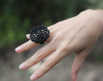 Geometric Hexagon 3D Printed Ring
