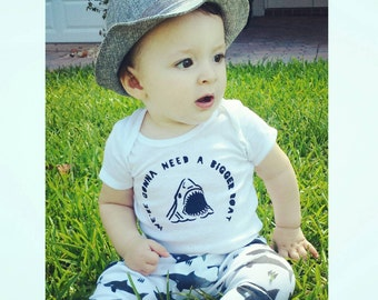 Jaws baby onesie,  we're gonna need a bigger boat baby onesie, summer baby onesie,  shark onesie,  shark baby onesie