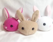 Handmade Rabbit Head Plushie Key Chain