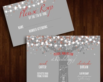Rustic Outdoor Wedding Invitation
