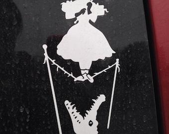 Haunted Mansion Tightrope Walker Car Window Vinyl Decal
