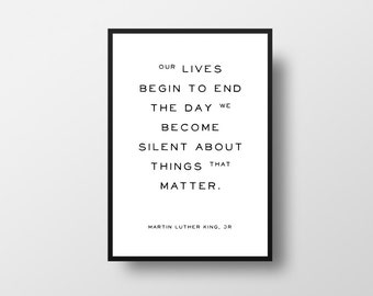 Martin Luther King, Life Quote, Motivational Quote, Minimalist Art, Vintage Style, Quotes, Inspirational, Vintage Poster