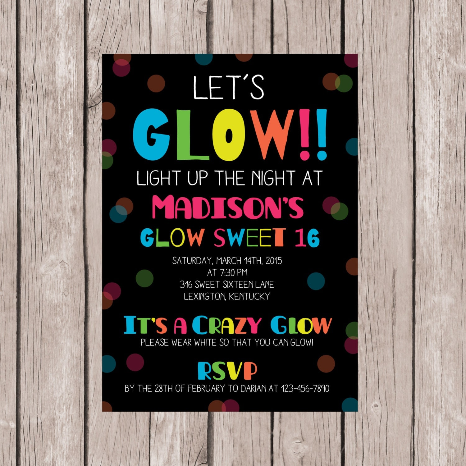 Glow Party Invitations – gangcraft.net