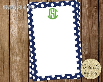 Personalized Notepads, Gift, To Do List, Monogram Notepad, personalized gift