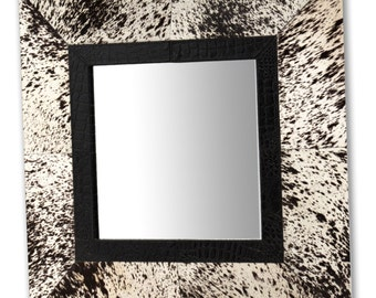 Leather Mirror 730 x 730 mm (29 x 29 Inches)