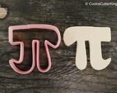 Pi Math Symbol Cookie Cutter, Mini and Standard Sizes, 3D Printed