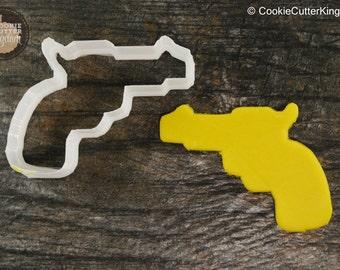 Cowboy Pistol / Gun American Cookie Cutter, Mini and Standard Sizes, 3D Printed
