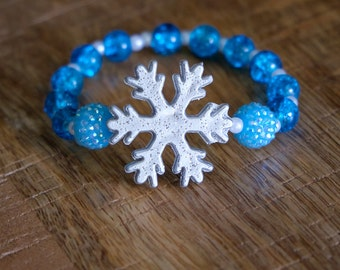 Kids Bracelet FREE SHIPPING, FROZEN inspired, stocking stuffer, birthday gift, kid jewelry