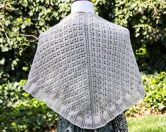 Beige hand knitted shawl, summer accessory for cool evenings, evening wear
