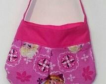 Easter Purse - Little Girls Purse - Toddlers First Purse - Disney Frozen Fabric Purse - Anna, Elsa Pink Glitter Purse - Easter Gift Idea