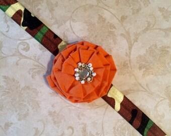 Cool Cotton Flower Headband (Orange)