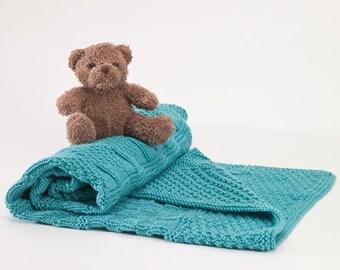 Knit Purl Baby Blanket Knitting Kit