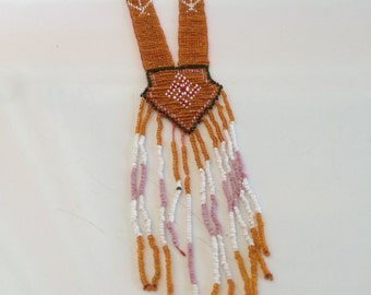 Vintage American Indian Seed Bead Necklace