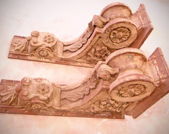 Pair of Cast Iron Corbels