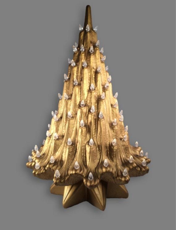 Vintage atlantic mold ceramic christmas tree rare art deco for Art nouveau decoration ameublement