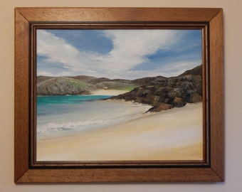 Original oil painting 'The Beach House'