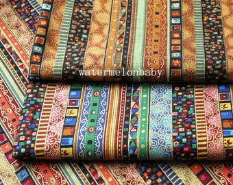 BOHO Bohemian fabric Upholstery fabric Home decor fabric Cotton Linen Fabric,Curtain fabric/  Sofa /Table cloth /bag- 1/2 yard