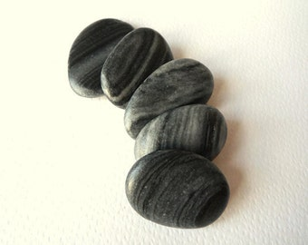 Beach Pebbles, Beach Stones, Patterned Stones, Striped Pebbles
