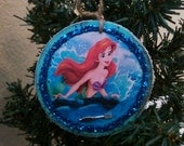 Little Mermaid hand crafted wood ornament