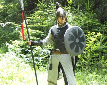Warrior's basic tunic. Comfortable under armor larp clothing. Universal male and female design. Made to order form cotton in custom sizes