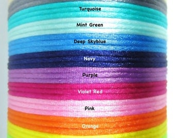 1.5mm Satin Cord with Breakaway Clasp for Teething Necklace