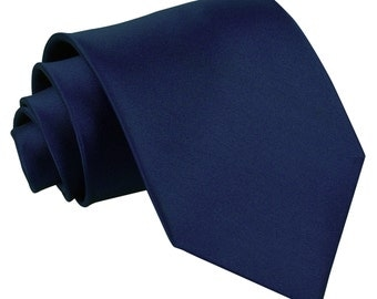 Satin Navy Blue Tie