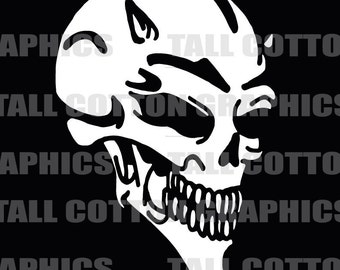 DEVIL SKULL Vinyl Decal #SKL083