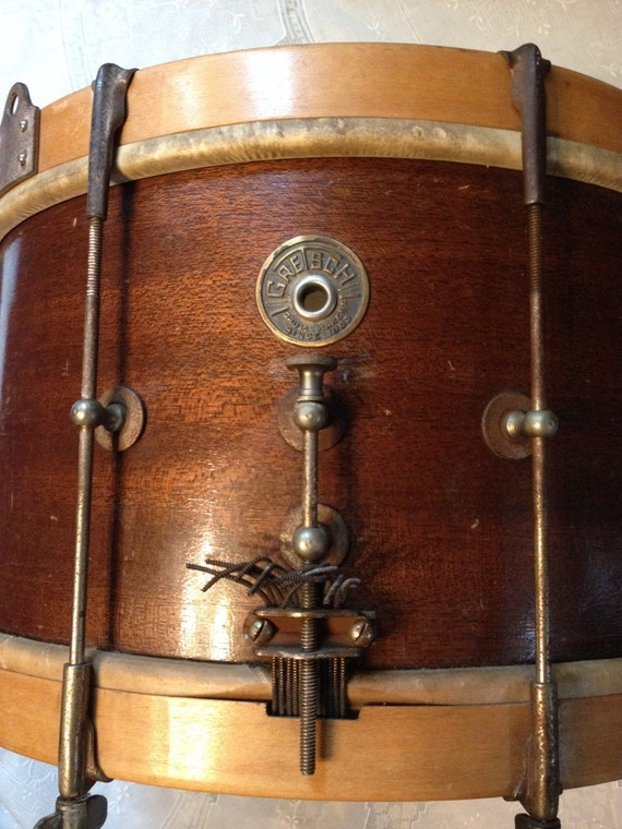 sale vintage gretsch snare drum 1930 39 s round badge by katysdigs. Black Bedroom Furniture Sets. Home Design Ideas