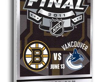2011 NHL Stanley Cup Commemorative Canvas Mega Ticket - Boston Bruins