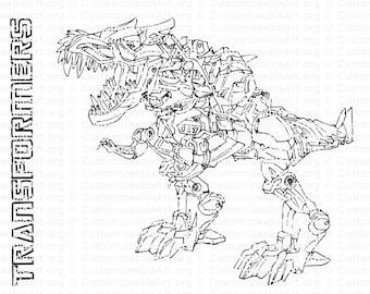 Dinobots Kleurplaat Transformers Kleurplaten Leuk Voor ...