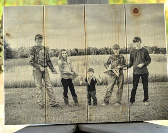 "Wood Photo Plank Board (16""x22"") Personalized"