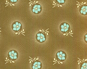Cotton fabric by Joel Dewberry for Free Spirit Fabrics Deer Valley Floral Drop JD24-Barnwood