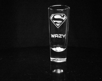 Superman Personalized Shot Glass- Custom Shot Glass