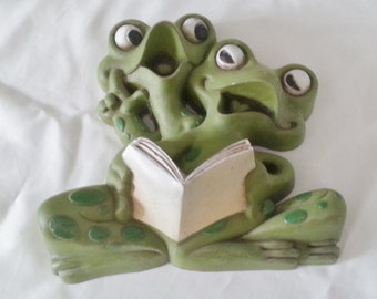 Burwood Products Company No.2190-1 Frogs reading singing
