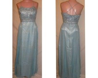 Long powder blue gown