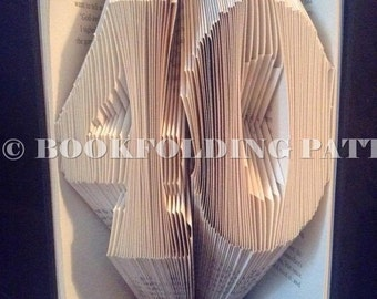Number 40 book folding pattern