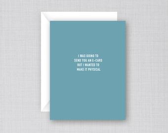 Physical Card | Funny Birthday Card | Funny Card | E-Card