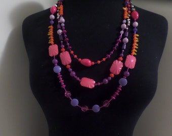 contemporary beaded necklace