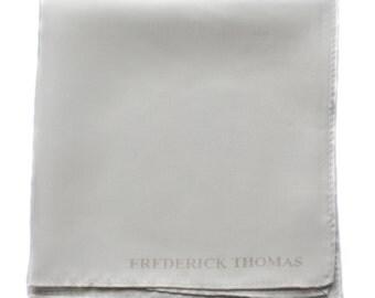 Frederick Thomas plain white pocket square FT1665