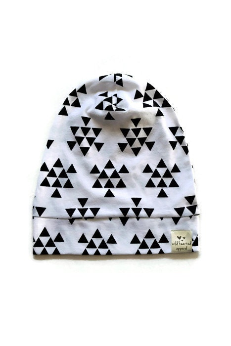 Black Triangles on White Hipster by WildHeartedApparel on Etsy
