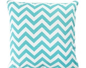 Outdoor Cushion (incl. insert) - Chevrons [Light Teal]